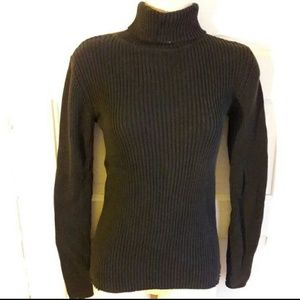 Faded glory women's black ribbed turtle neck